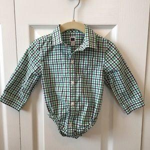 Janie and Jack Plaid Dress Shirt — EUC